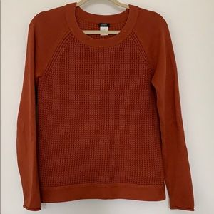 J.Crew Orange Waffle Knit Sweater Size Small